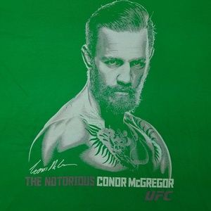 Connor McGregor The Notorious UFC Green Shirt L